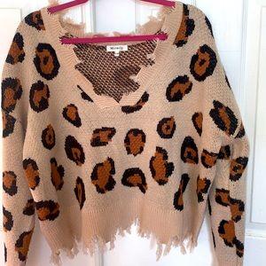 Cheetah print beach sweater